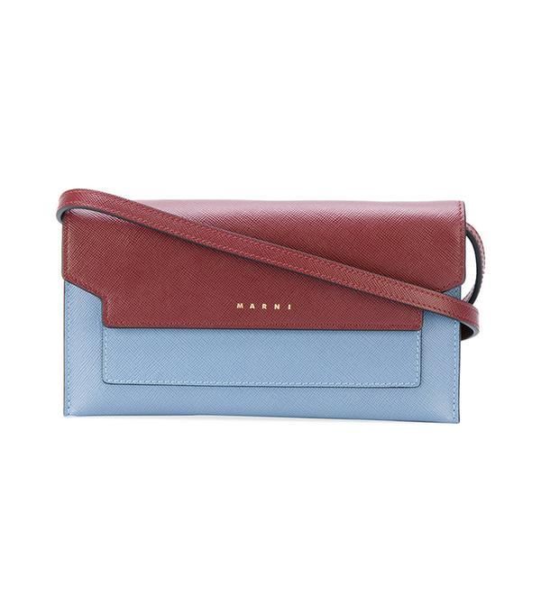 colour block clutch bag