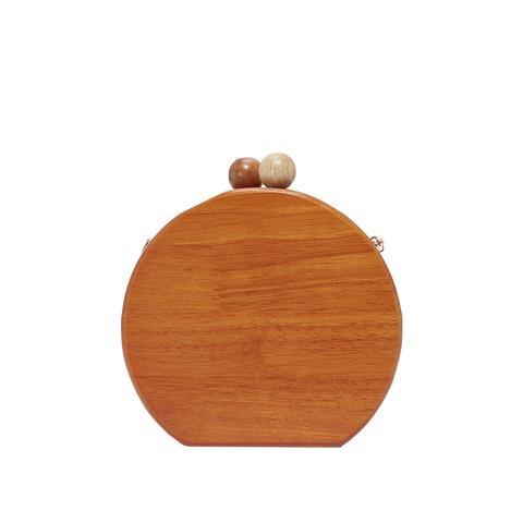 Ornella Round Wood Clutch