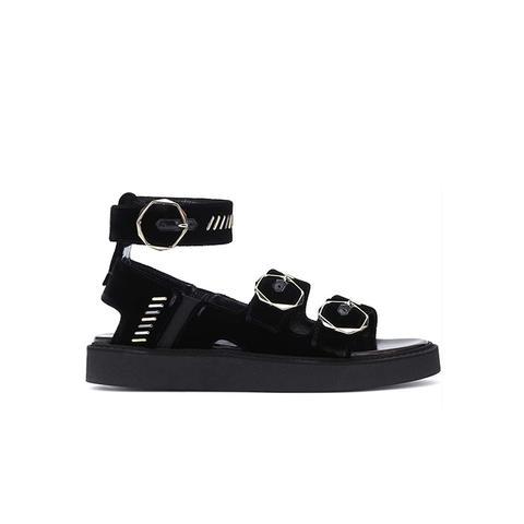 Julia Black Velvet Sandals