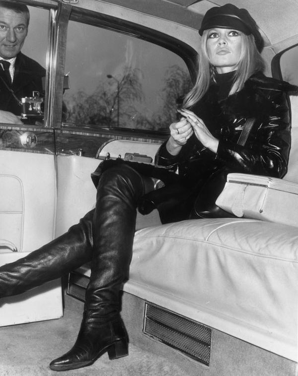 Brigitte Bardot in Leather