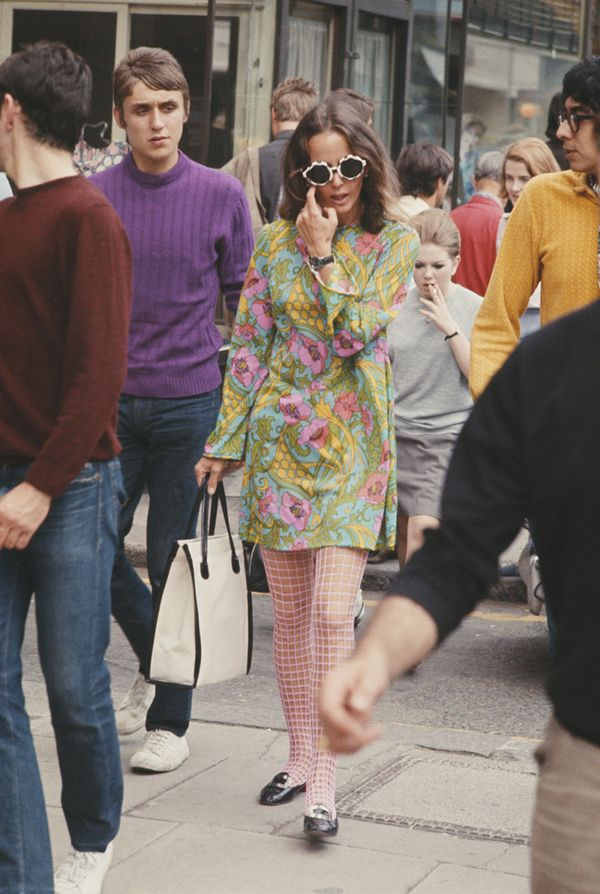 Fashion girl on King's Road in Chelsea, London 1960s