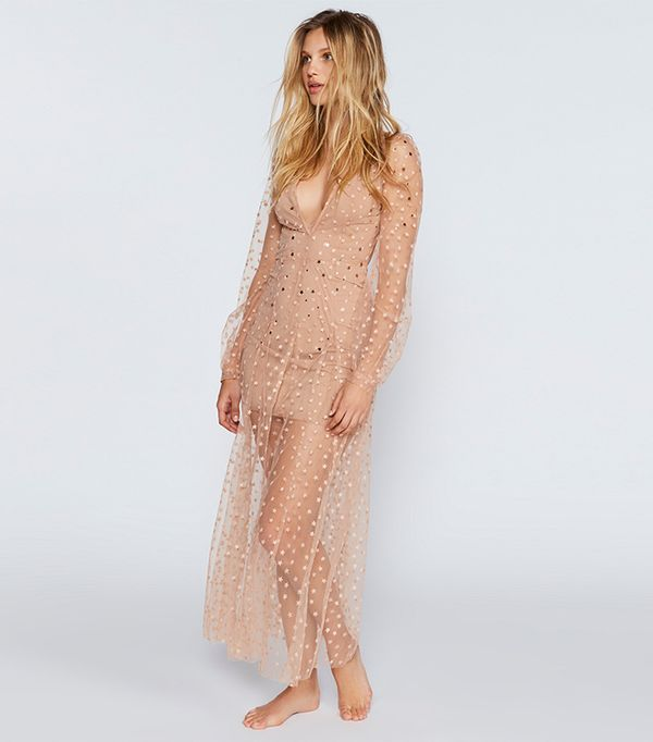 All That Glitters Tulle Maxi Dress by For Love & Lemons at Free People