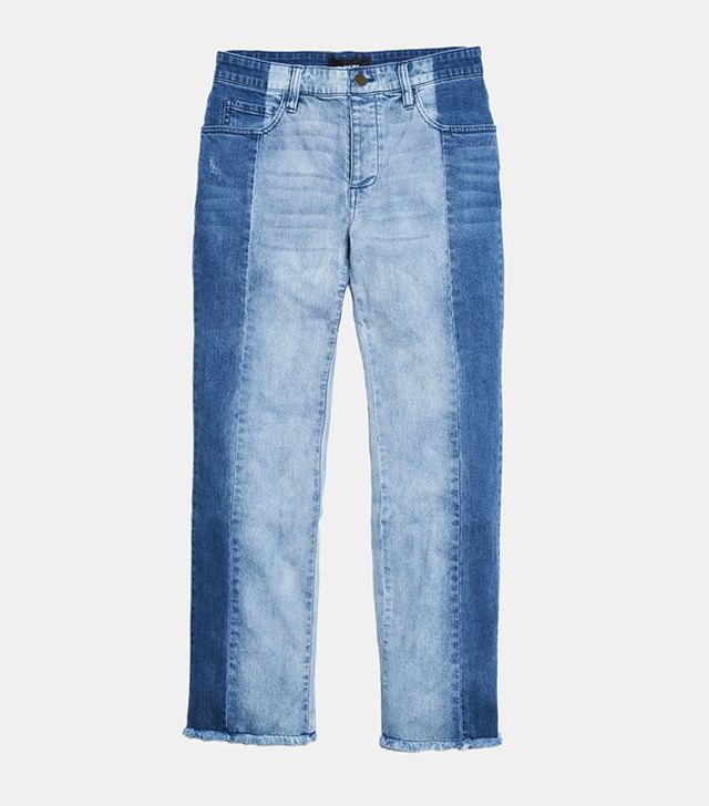 Who What Wear Deconstructed Jeans