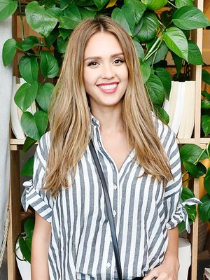 Jessica Alba Just Posted the Most Adorable Photo of Her Growing Baby Bump
