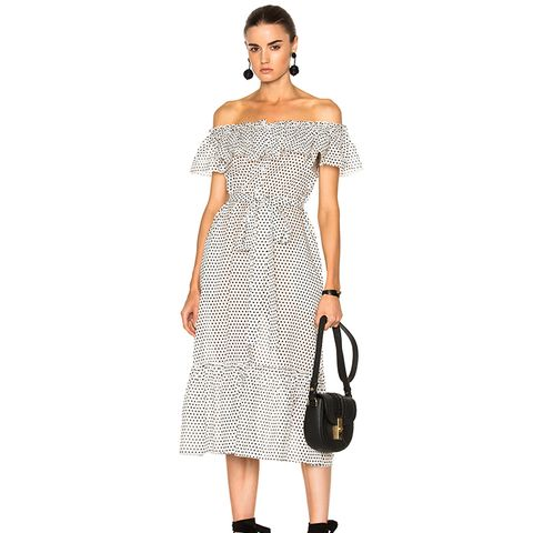 Mira Button-Down Sheer Dress