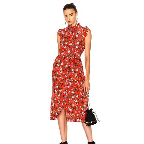 Sebla Convertine Crepe De Chine Dress