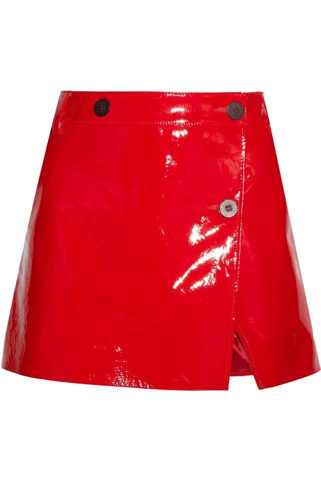 Vinyl A line Mini Skirt
