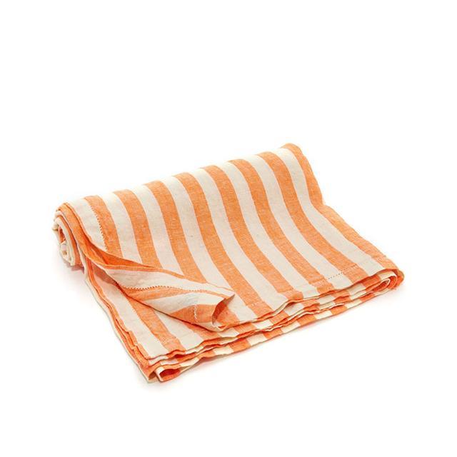 Striped linen towel