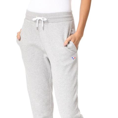 Tricolor Fox Patch Classic Jogger Pants