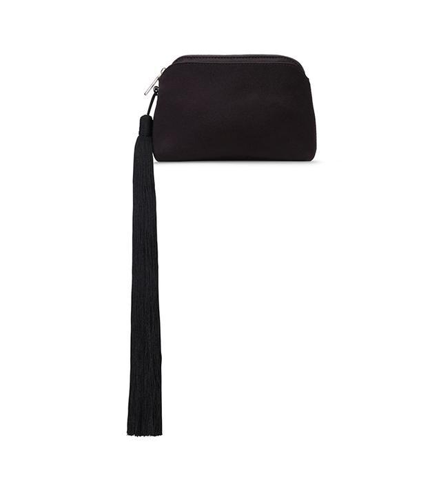 Mini Satin Tassel Wristlet Bag
