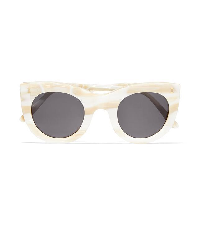 Boca Cat-eye Marble Acetate Sunglasses