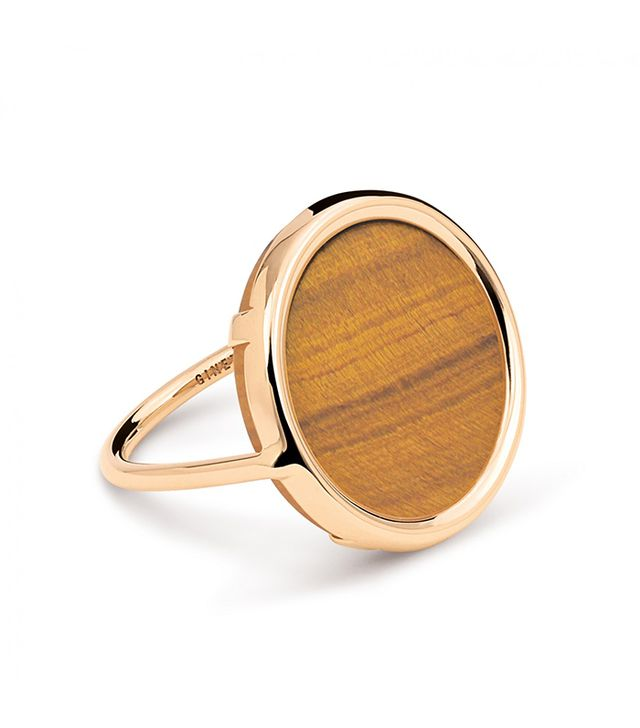 Ginette NY Ever Tiger Eye Disc Ring