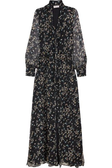 Paul & Joe Claudia Floral-print Silk-chiffon Maxi Dress