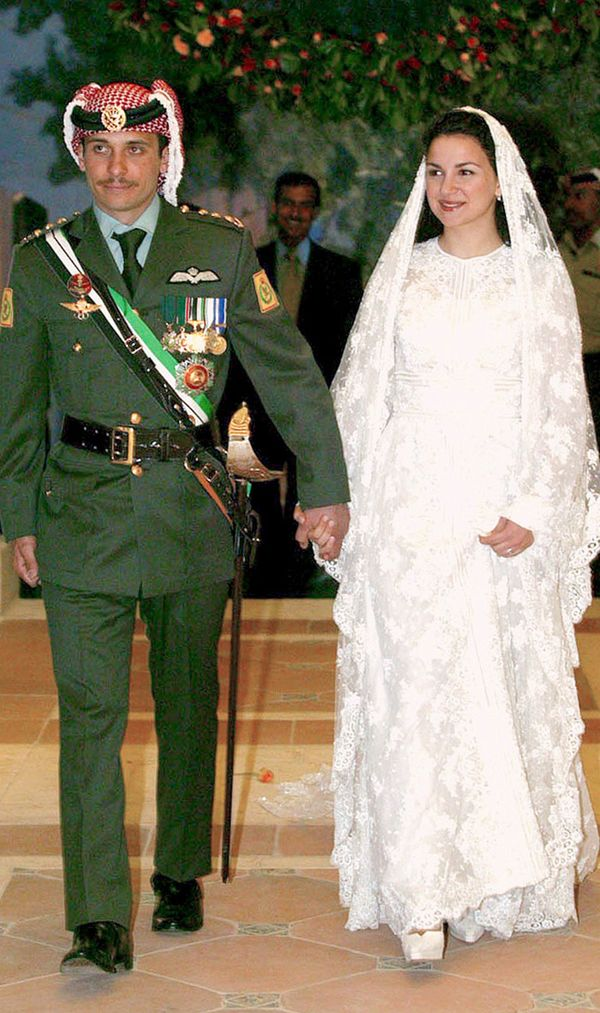 Princess Noor of Jordan wedding dress