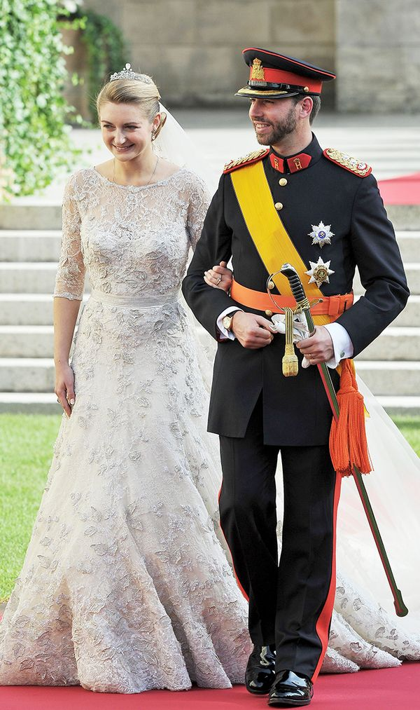 Princess Stephanie of Luxembourg wedding dress