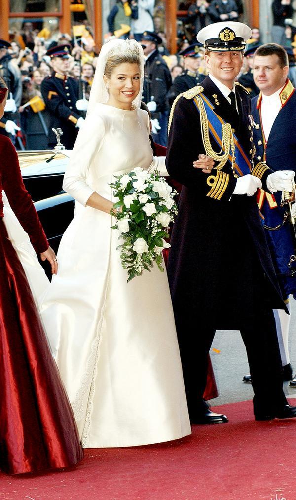 Princess Máxima of the Netherlands wedding dress