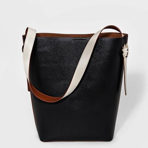 Colorblock Tote Handbag