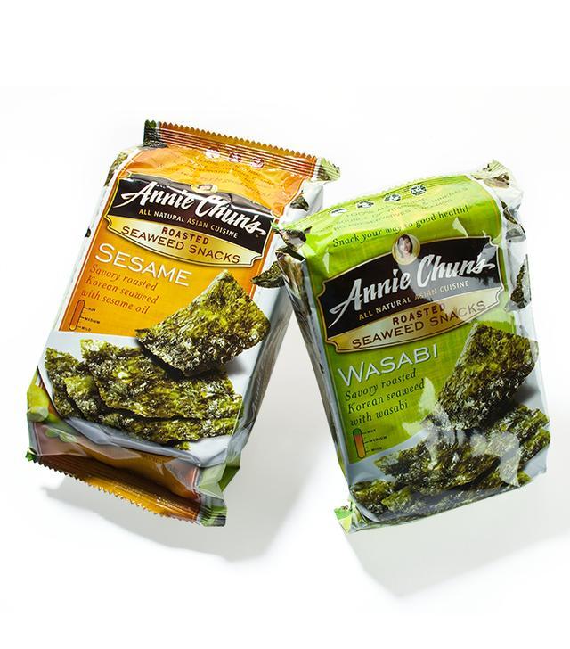 Annie Chun Roasted Seasweed Snacks Sesame - healthy salty snacks
