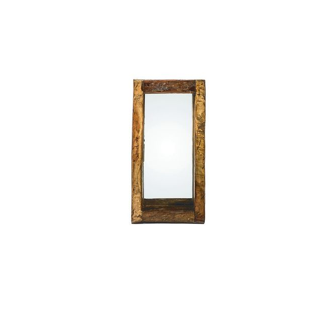 Lifestyle Traders Recycle Wood Oil Pot with Mirror