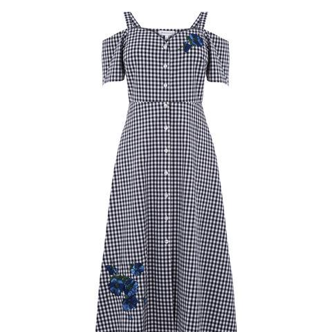 Delia Embroidered Midi Dress