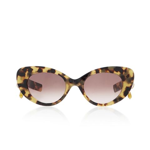 Poms & Pared Tortoiseshell Cat-Eye Sunglasses