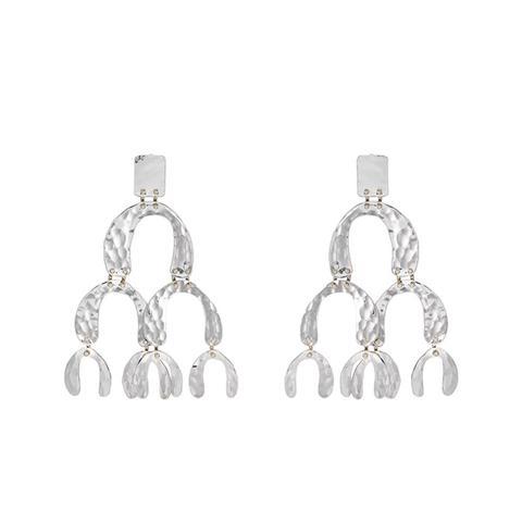Oversized Tiered-Drop Earrings