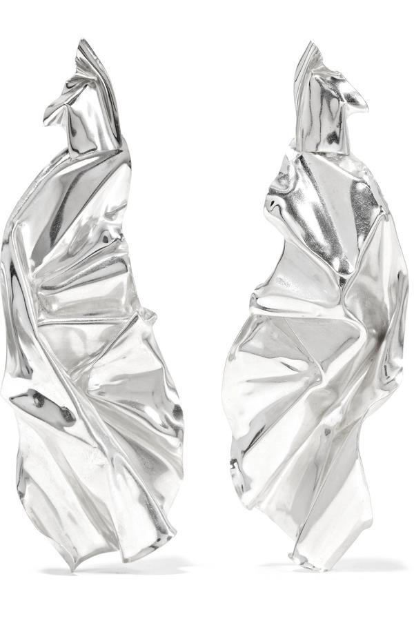 Wwake Closer Veil Sterling Silver Earrings