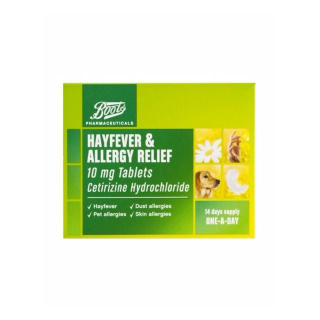 prickly heat: Boots Pharmaceuticals Hayfever & Allergy Relief