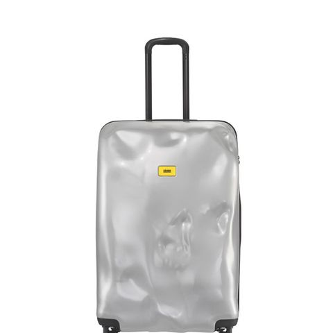 Large Bright Trolley Case in Metallic