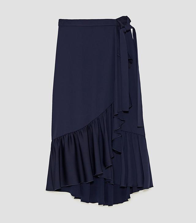Zara Ruffled Wrap Skirt