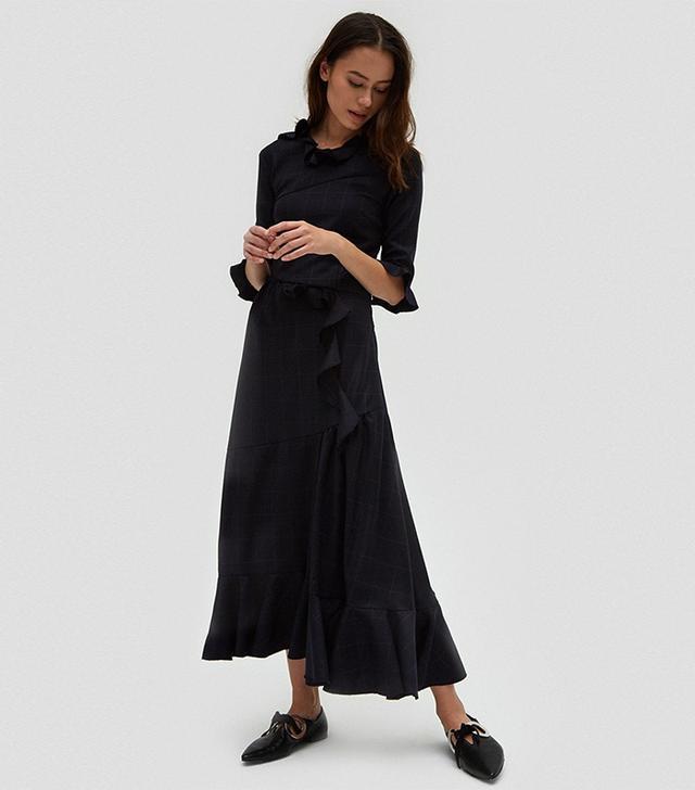 Alina Ruffle Detail Dress