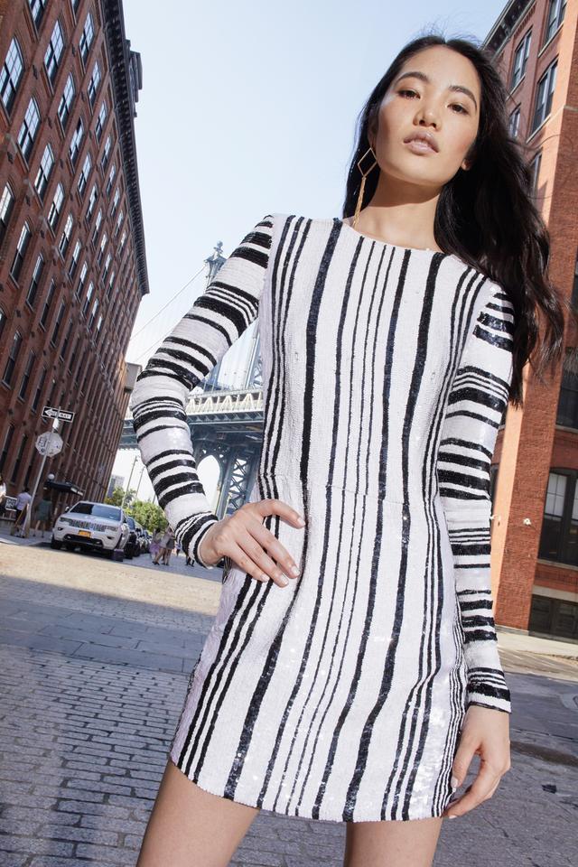 Moda Operandi Sem Sem Rafah Striped Sequin Dress