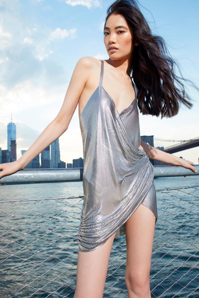 Moda Operandi Fannie Schiavoni Metal Mesh Wrap Dress