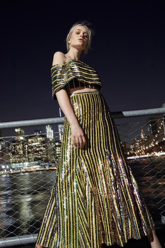 Moda Operandi Sandra Mansour Beaded Tulle Top And Skirt Set