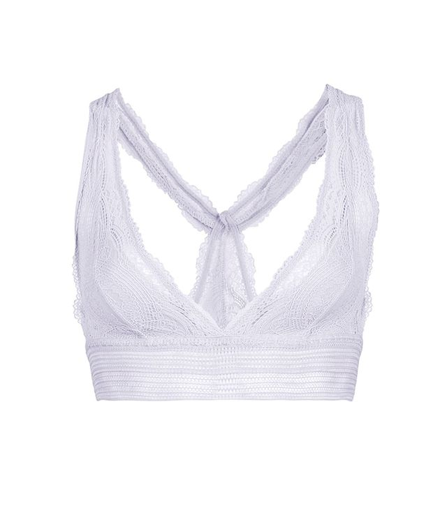 Topshop Two-Tone Lace Bralet