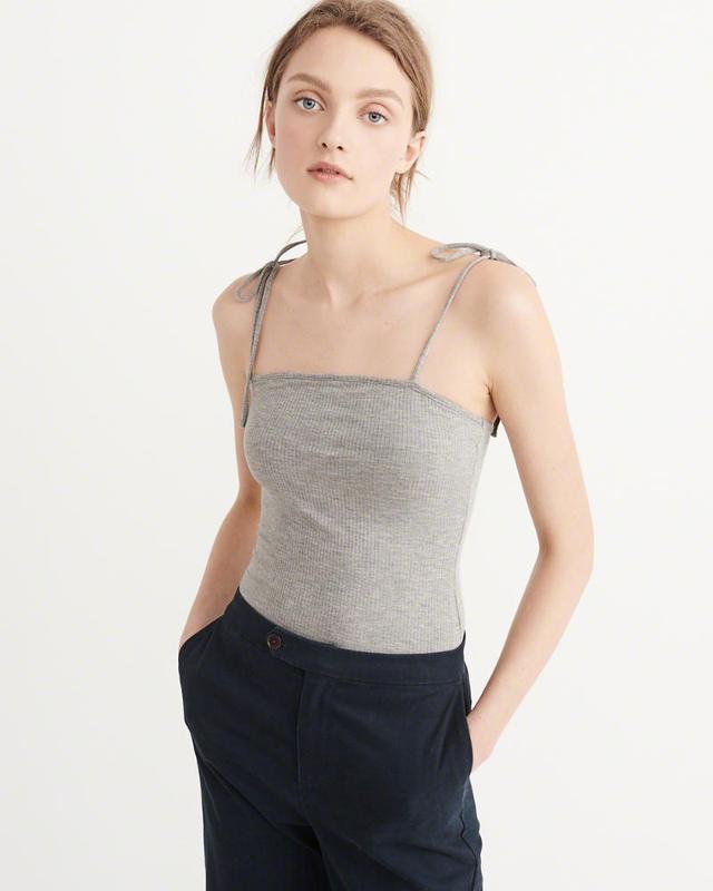 Abercrombie & Fitch Tie-Shoulder Bodysuit