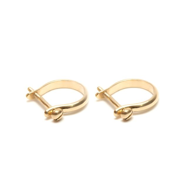 Them Bones Shackle Earrings in Gold-Plated Silver