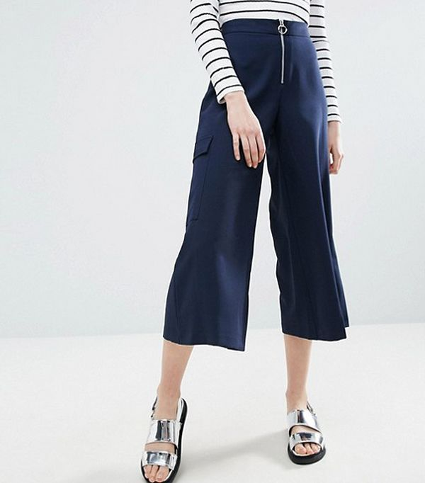 Tailored Culottes with Zip Ring Pull