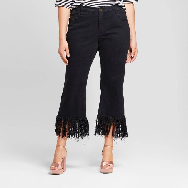 Who What Wear Collection Fringe Hem Crop
