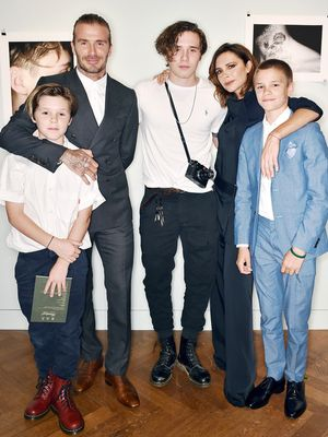 The Beckham Family Crashed This TV Show Set (and Looked Adorable)