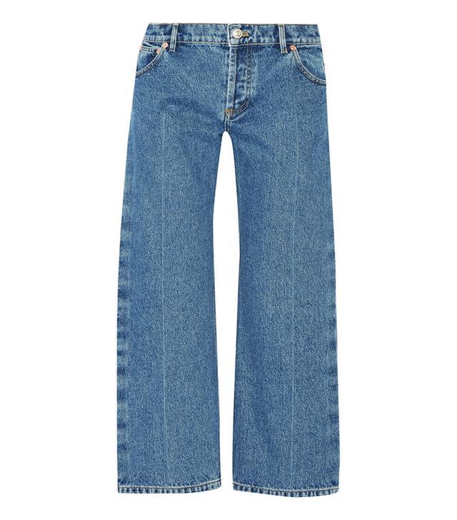 Rockabilly Cropped Low-rise Wide-leg Jeans