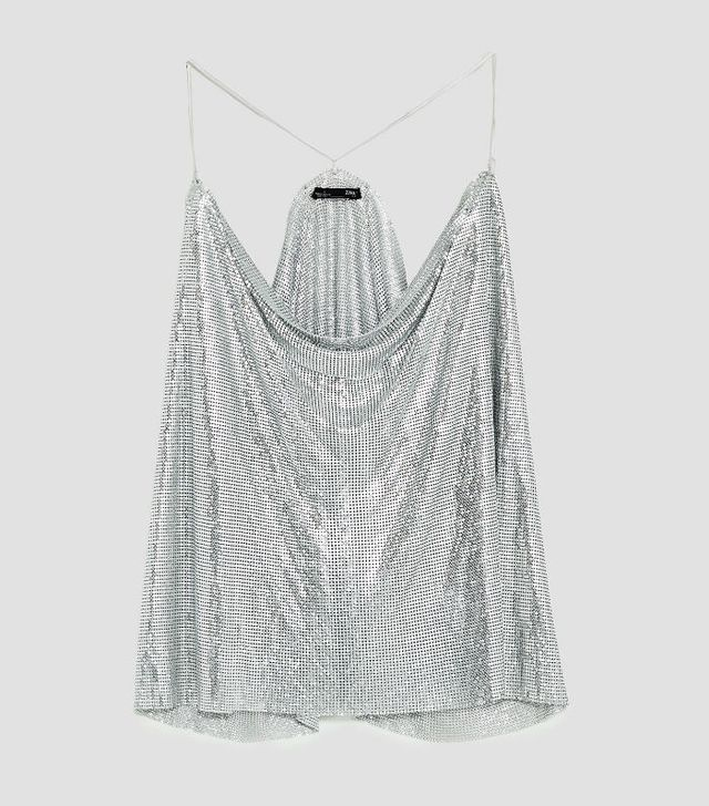 Chainmail trend: Zara top