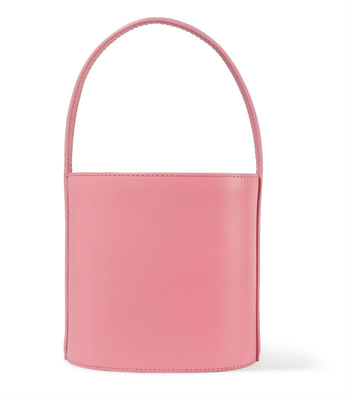 Staud Bissett Bucket Bag Trend: Staud Bissett Leather Bucket Bag