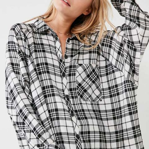 BDG Brendan Cozy Flannel Button-Down Shirt