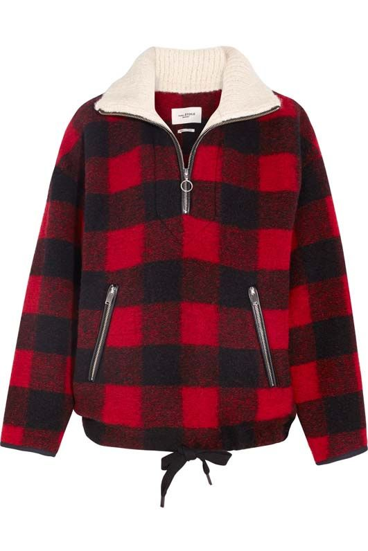 Gilas Plaid Brushed Wool-blend Jacket
