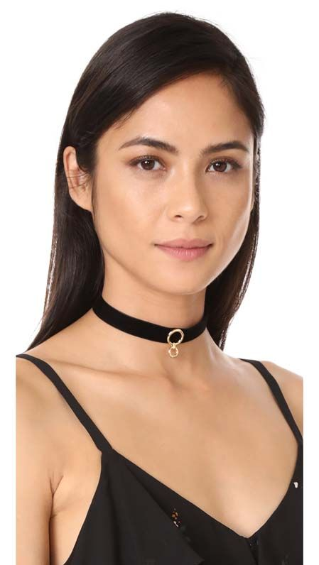 Velvet Ring Choker Necklace