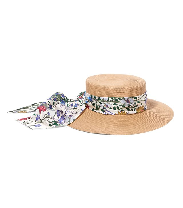 straw hat scarf