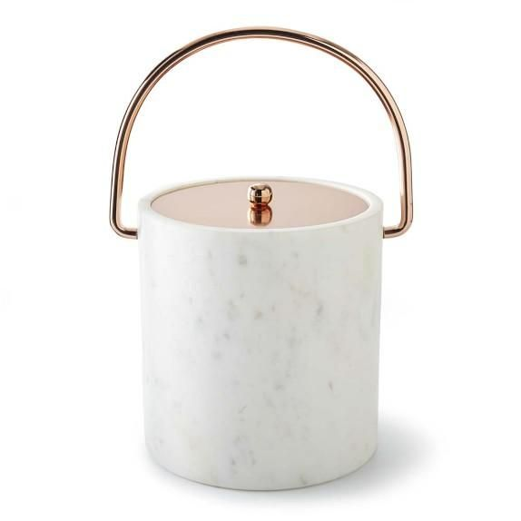 Marble & Copper Ice Bucket