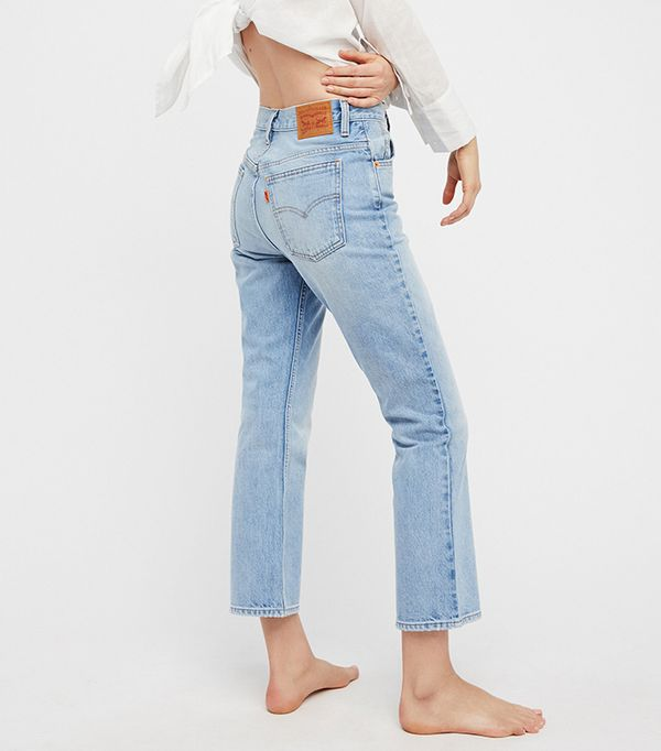 Levi'S 517 Cropped Boot Cut Jeans by Levi's at Free People