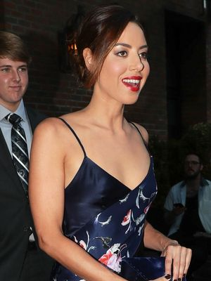 Aubrey Plaza, This Is the Slip Dress of Our Dreams